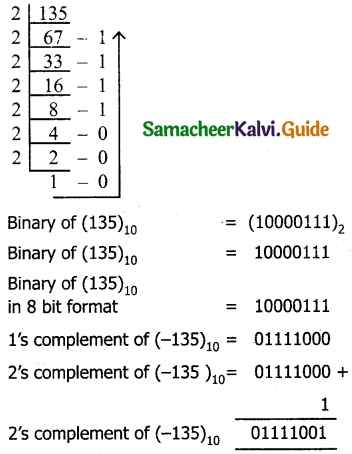 Samacheer Kalvi 11th Computer Applications Guide Chapter 2 Number Systems 10