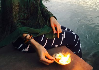 blessing at mother ganga in india