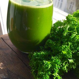 green leafy juice