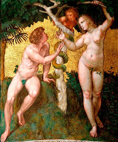 Adán y Eva. Raphael Sanzio (1500-1510).