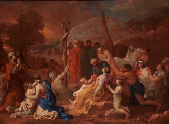 La serpiente de metal. Sébastien Bourdon. 1650-1660.