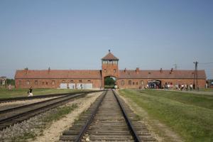 The infamous gates of Birkenau