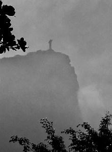 Cristo Redentor rises up through the mist, Rio de Janeiro, Brazil