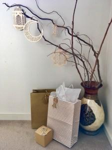 Setting up the Eid gift corner
