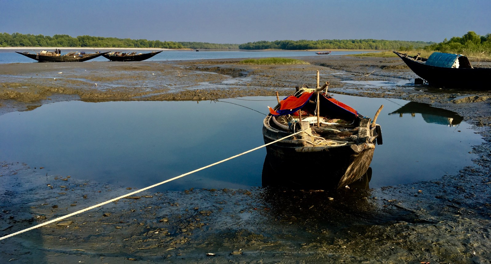 Fishing boat Dublar Char Bangladesh Fishermen Fishing Sunderbans