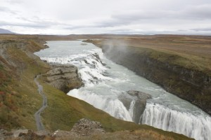 The Gulfoss waterfalls Iceland