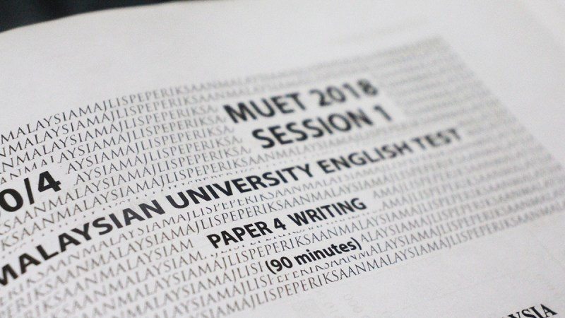 MUET 2018 Session 1 – Paper 4 Writing