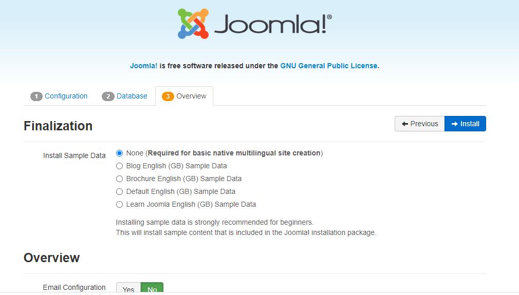 overview of joomla