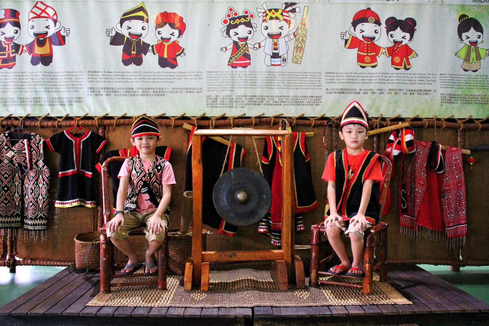traditional costumes at Borneo Happy Farm