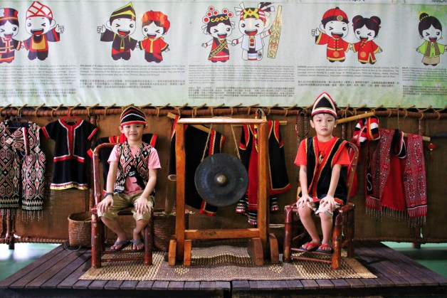 traditional costumes at Borneo Happy Farm