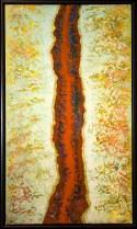 Rusting River - acrylic on panel - 42 x 24