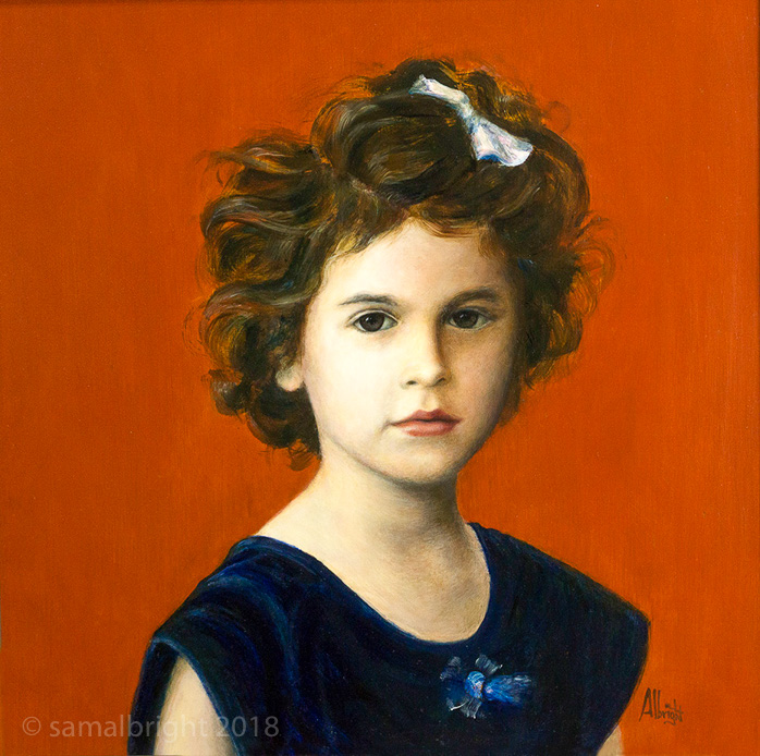 Picture of oil painting of Valentina Fuentes