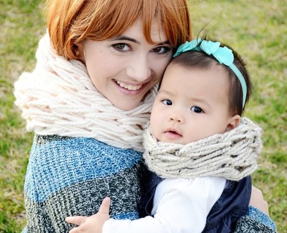 mama and mia scarf oatmeal