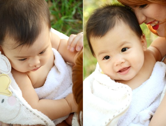Outdoor Bubble Bath Photos 9 Month Baby Photography_3692
