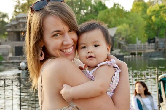 Sam and Amelia at Disneyland May 2014