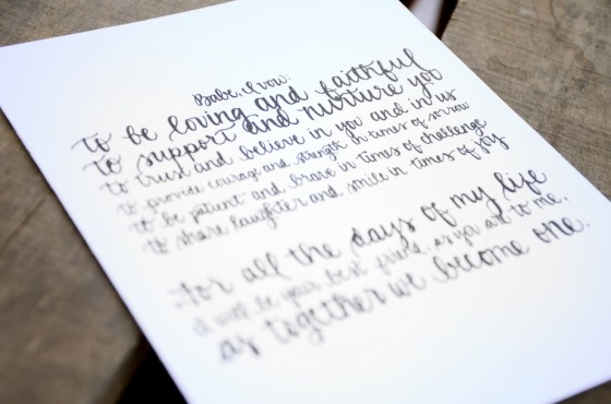 Your New Friend Sam Etsy Smiling Bubbly Handwritten Wedding Vows 444