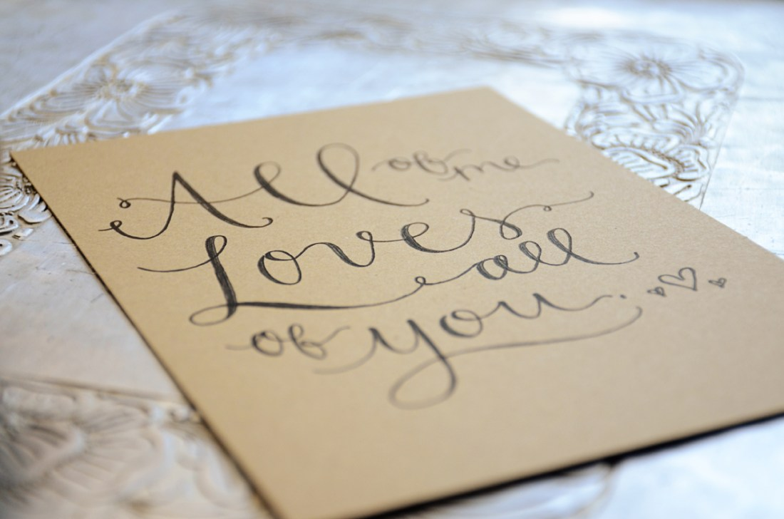 Your New Friend Sam Handwritten Vows Kraft Print 977