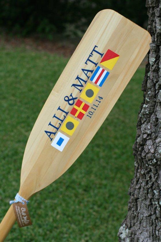 elise taylor - Nautical Flag Paddle