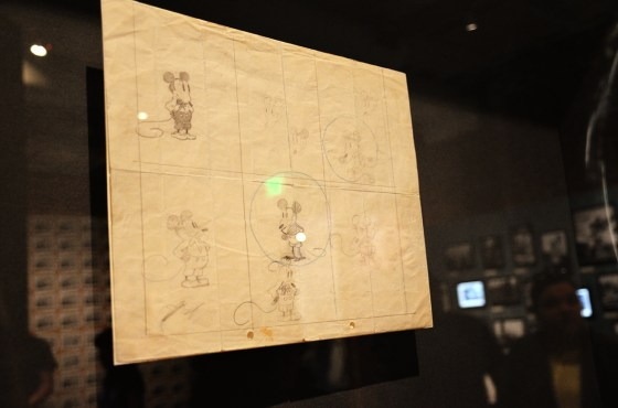 The earliest known drawing of Mickey Mouse.