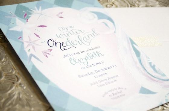 Frozen Inspired Winter Onederland Wonderland Birthday Invitation from Your New Friend Sam on Etsy 482