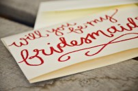 Cream Cardstock with Red Embossing Detail