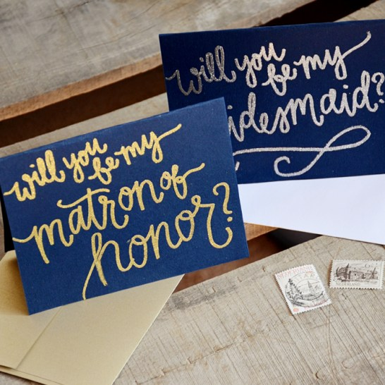Dark Navy Cardstock with Gold or Silver Embossing