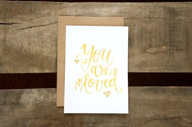 Sam Allen Creates Watercolor Handwritten You Are So Loved Print