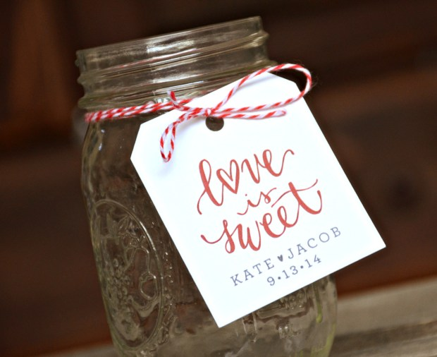 Your New Friend Sam Love is Sweet Printed Tag