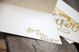 Godmother Invitations by Your New Friend Sam - Cream Cardstock with Personalized Gold Glitter Embossing Signature 2