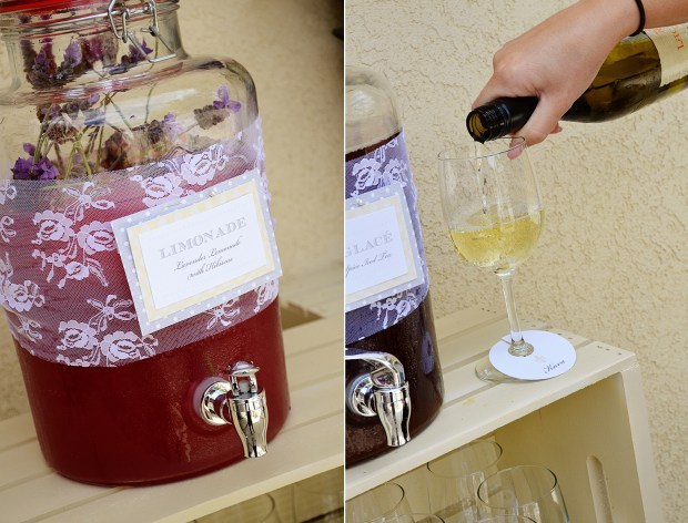 french country baby shower bebe soiree drink station detail