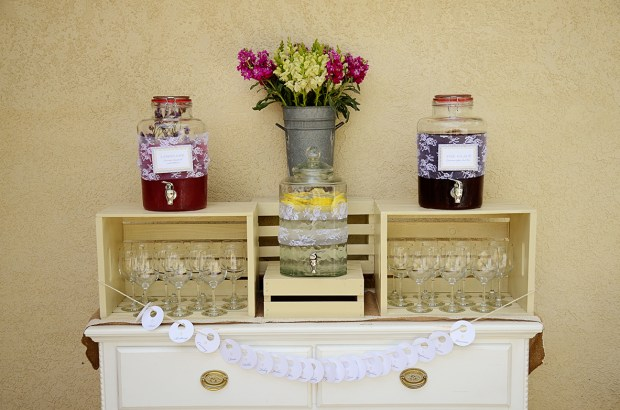 french country baby shower bebe soiree drink station