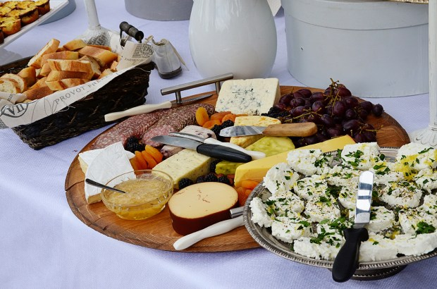 french country baby shower bebe soiree food table 3 cheese plate