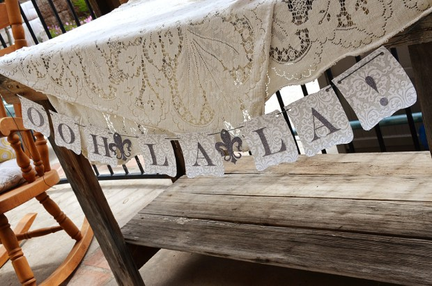 french country baby shower bebe soiree gift table ooh la la banner
