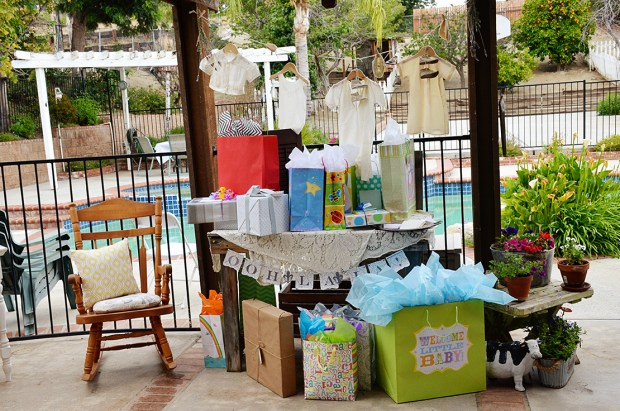 french country baby shower bebe soiree gift table presents
