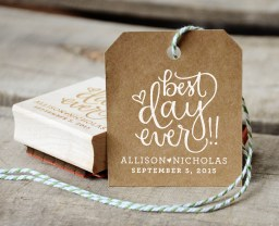 Your New Friend Sam Best Day Ever Rubber Stamp