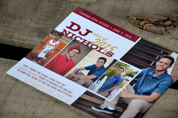 DJs Senior Graduation Announcement by Sam Allen Creates