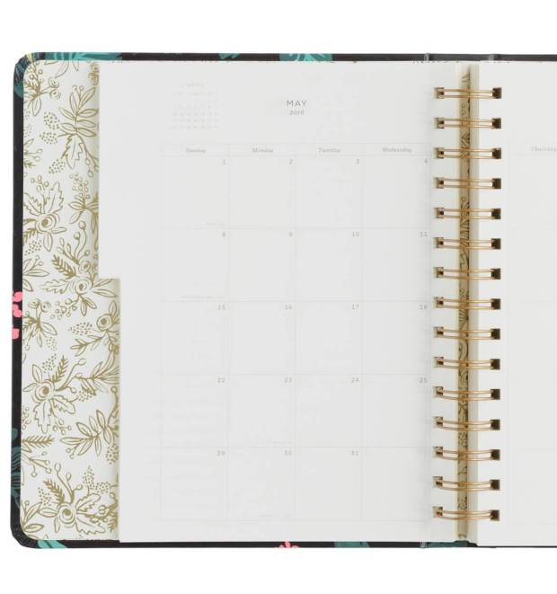 Rifle Paper Co Planner inside