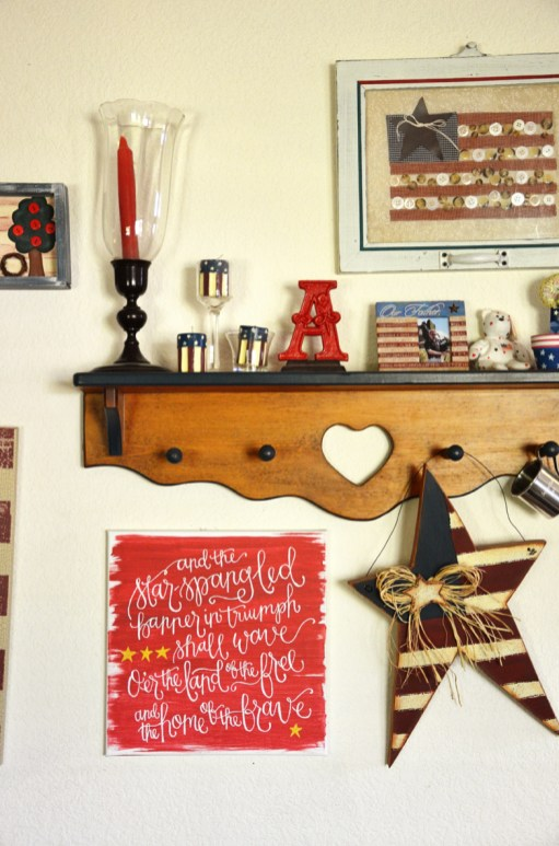 Star Spangled Banner Handpainted Canvas