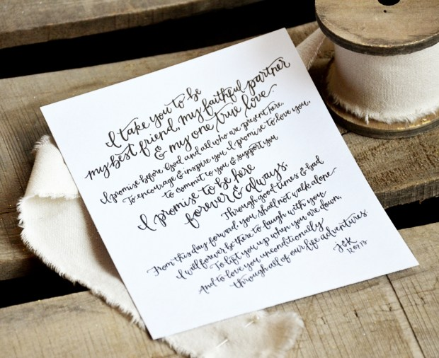 Your New Friend Sam Hand Lettered Wedding Vows Anniversary Present