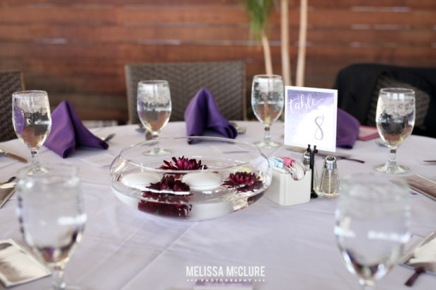 Melissa McClure Photography Lindseys Dahlia Centerpieces Watercolor Table Numbers