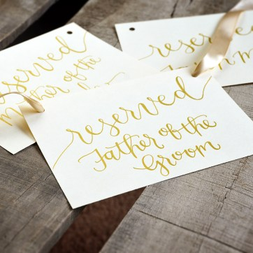 Reserved Hang Signs for Wedding Ceremony by YourNewFriendSam Etsy