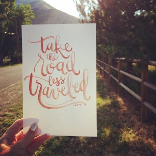 Sam Allen Creates - LetterItAugust - Take the Road Less Traveled