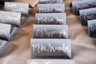 Heather Elise Photography crossings at carlsbad escort tent cards lettering by Sam Allen Creates