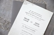 Sam Allen Creates Wedding Invitation Suite for Taylor invite only