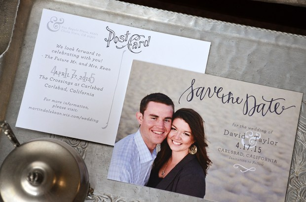 Sam Allen Creates Wedding Invitation Suite for Taylor Save the Date
