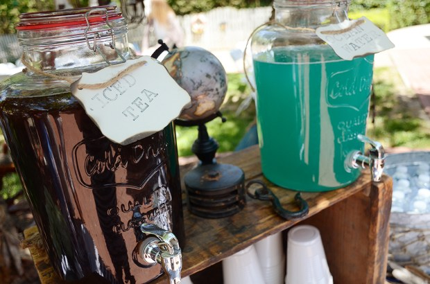 Sams Nautical Baby Shower Drink Table Detail