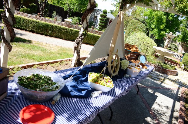 Sams Nautical Baby Shower Food Table