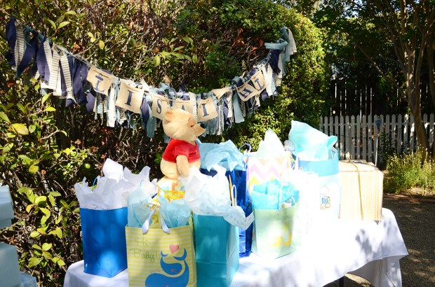 Sams Nautical Baby Shower Gift Table