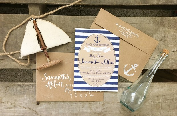Sams Nautical Baby Shower Invitation