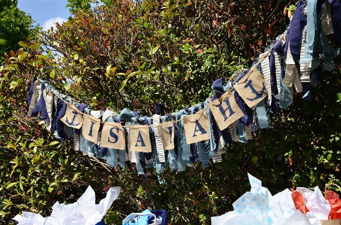 Sams Nautical Baby Shower Isaiah Banner